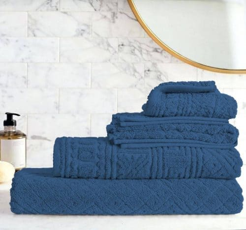 Egyptian Cotton | Blushy towel set Blue
