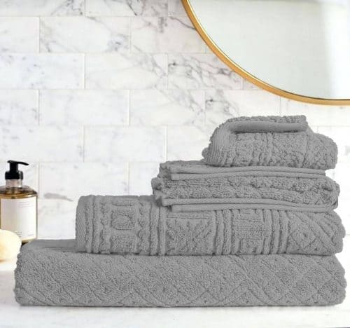 Egyptian Cotton | Blushy towel set Grey