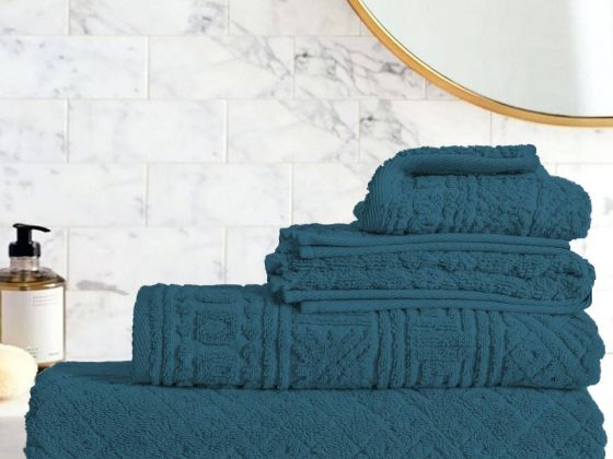 Egyptian Cotton | Blushy towel set Teal