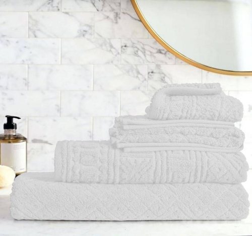 Egyptian Cotton | Blushy towel set White