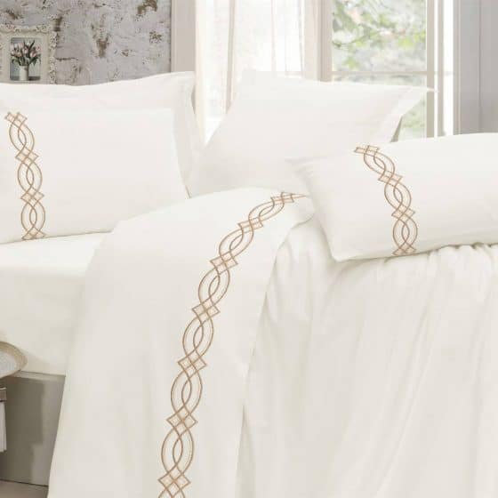 Egyptian Cotton | Diva bedsheets beige