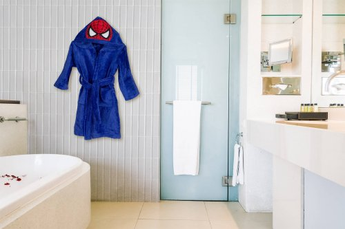 Kids bathrobe spiderman 002